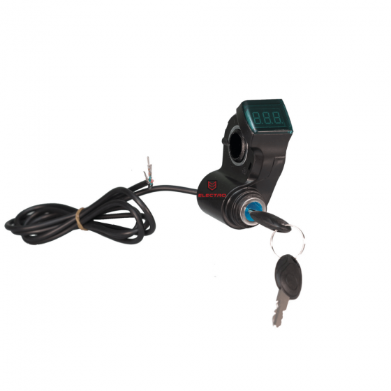 Ignition Lock with LCD Voltage Display for electric scooter: Kaabo Mantis & Wolf Warrior